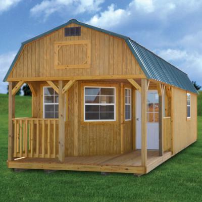 treated side lofted barn cabin in arkansas