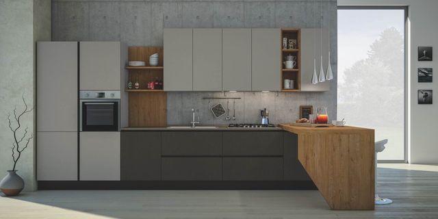 Cucina moderna con bancone