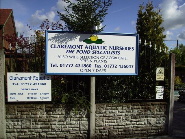 For aquatics pond and fish supplies in leyland choose for Fish pond specialists