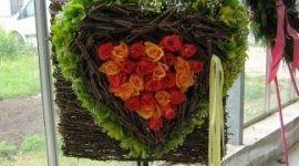 rose, rose bianche, gladioli