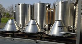 Serbatoi di acciaio inossidabile per settore agricola