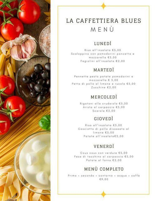 LA CAFFETTIERA BLUES MENU