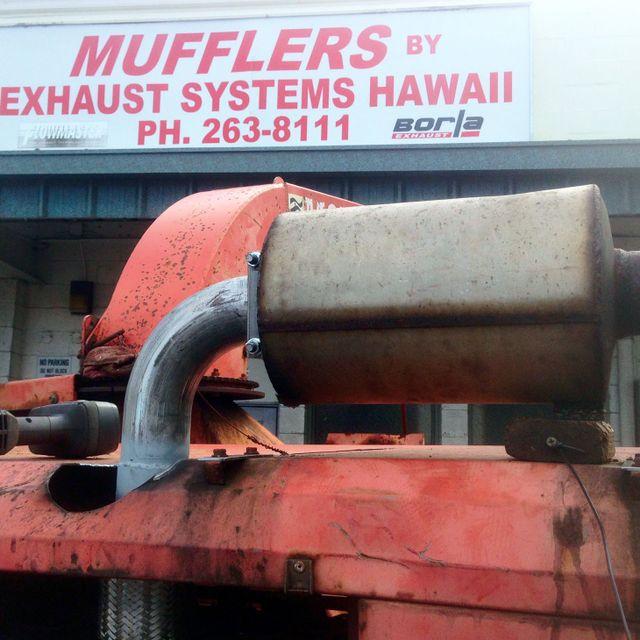 A large muffler