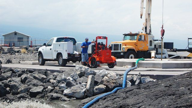 Pumping contractors upgraded the septic tanks in Kamuela, HI