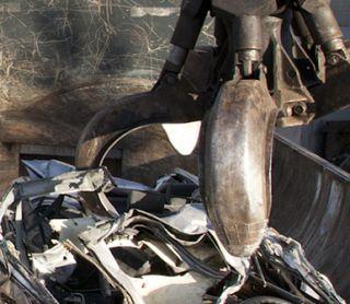 raccolta rifiuti metallici con ragno meccanico