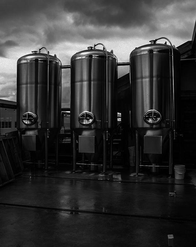 Brewing vats at the alehouse