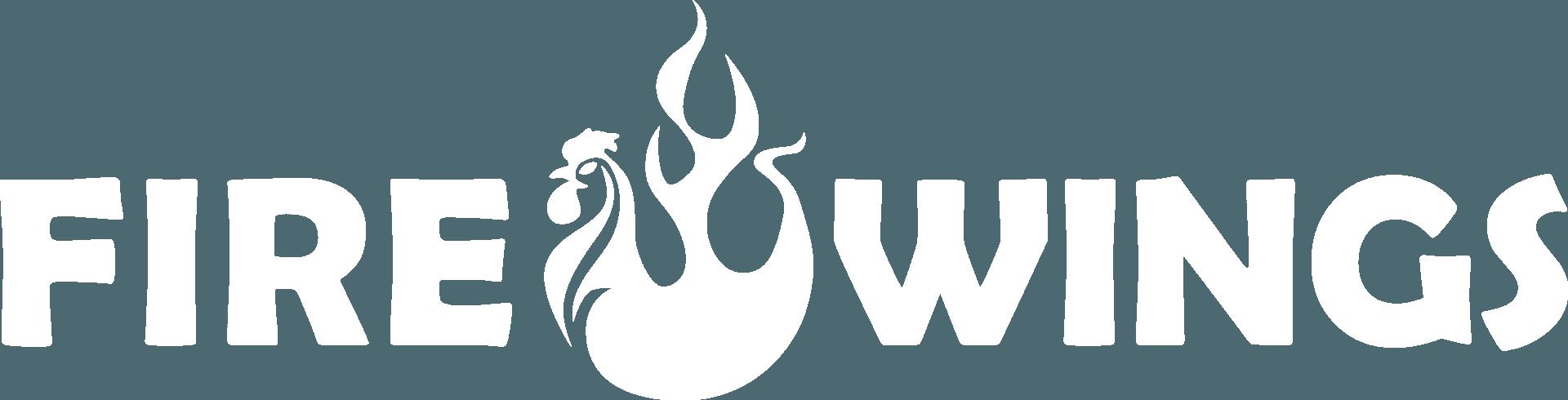 Fire Wings Logo White