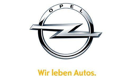 logo marca Opel, wir leben autos