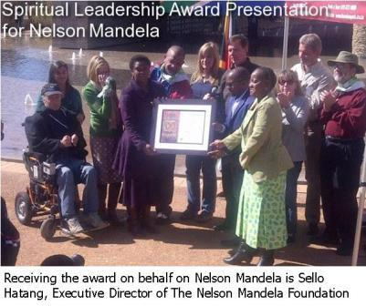 Spiritual Leadership Award for Nelson Mandela
