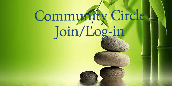 Community Circle Join or Login Button