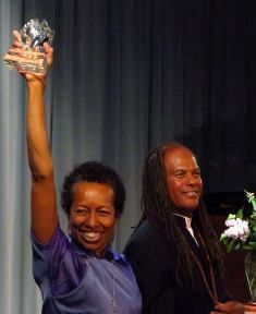 Rev. Dr. Michael Bernard Beckwith and Rickie Byars Beckwith at the Humanity's Team 2015 Spiritual Leadership Awards