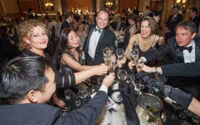 Cheers at Champagne Ball