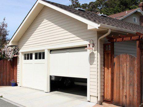 unused garage before being converted