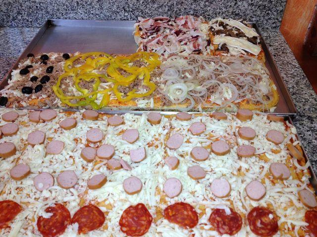 pizza a fette con olive