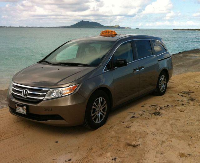 Kailua Coast Taxi cab on the beach in Kailua, Hawaii