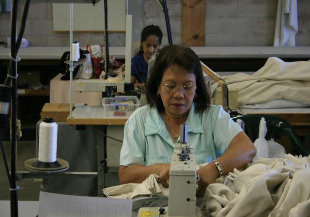 Custom made fabric shades at Kreative Kama'āina in Honolulu, HI