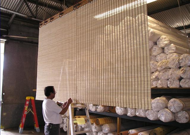 Bamboo drapes at Kreative Kama'āina in Honolulu, HI
