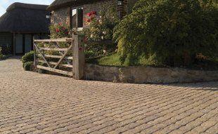new brick driveway