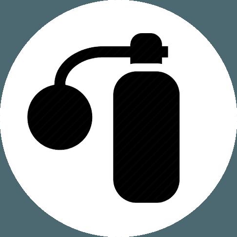 Icona di una boccetta di profumo classica