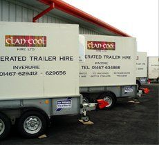 Refrigeration equipment hire - Aberdeen - Clancool Refrigeration - Refrigerated Trailer
