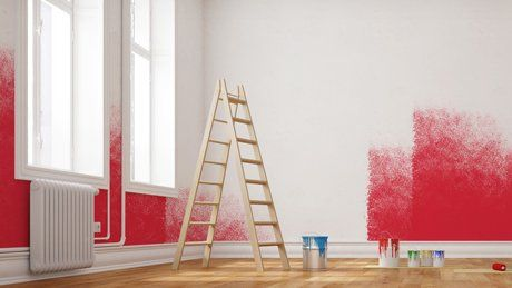 wall being painted red
