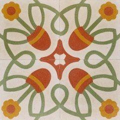 delle piastrelle con dei disegni di vasi di fiori