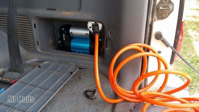air compressor installed