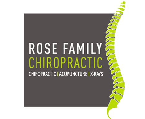 rose family chiropractic business logo