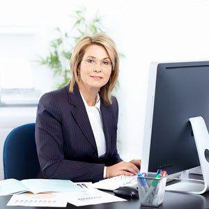 an executive posing