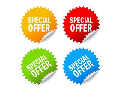 loghi special offer e sconti