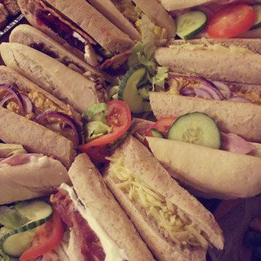 Sandwiches prepared freshly in our bakery