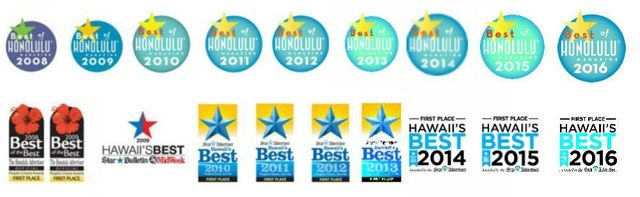 Best of Honolulu, Star Advertiser's Best of Hawaii Dry Cleaner Awards