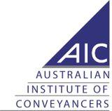 AIC, Australian Institute of Conveyancers logo