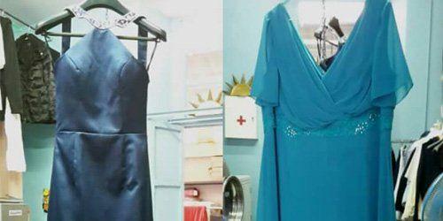 Vestiti da donna dopo il lavaggio alla Lavanderia Giusy Di Foti Giuseppina a Milano