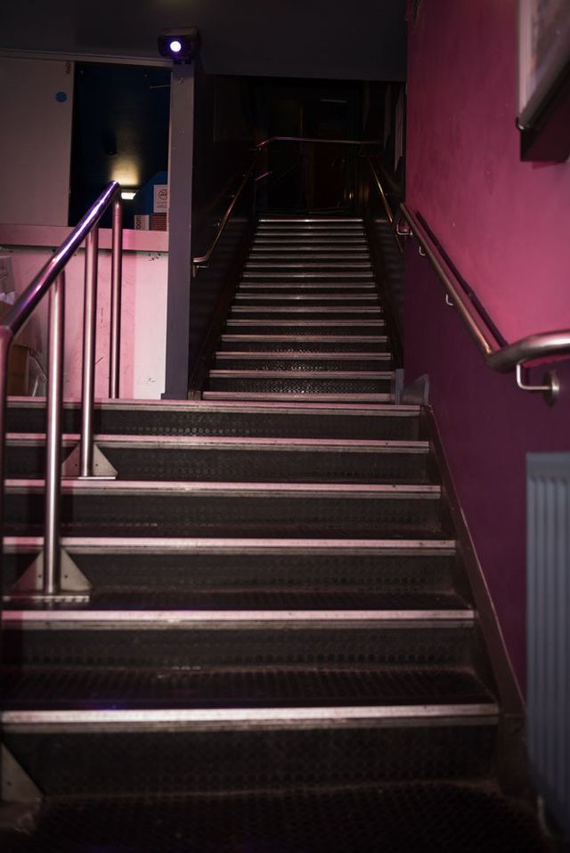 Stairs at Enigma cafe