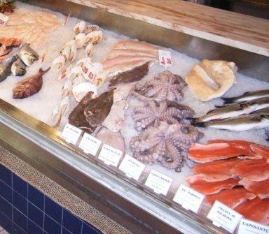 pesce fresco, polpo, salmone, pesce di acqua dolce
