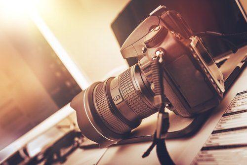 fotocamera digitale moderna telecamera DSLR