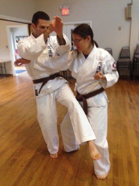 virginia okinawan karate dojo class throw