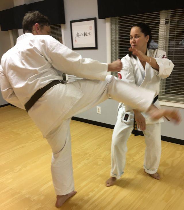 best karate round house kick block