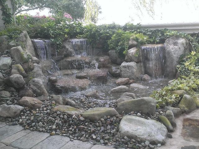 NATURAL STONE WATERFALL FOUNTAIN