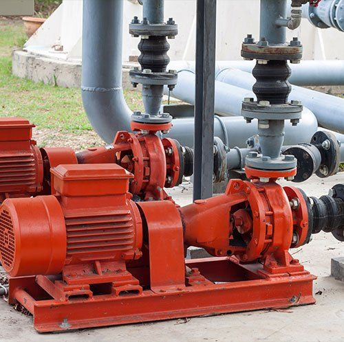 Red motor water pump