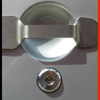 Stainless steel plate lock