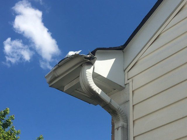 Rooftop gutter that received gutter repair in Columbus, OH