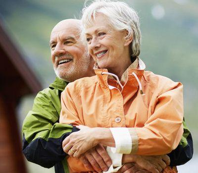 couple with flexi dentures