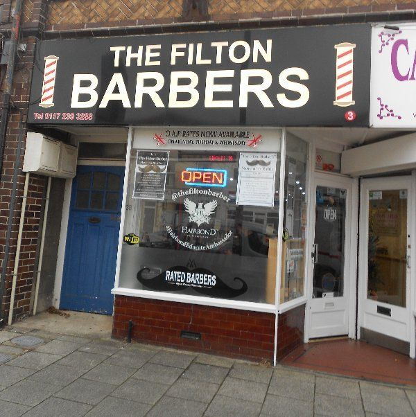 The Filton Barbers Sign Board