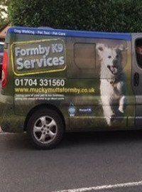 Service vehicle Formby K9 Services
