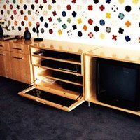 Custom furniture designed for the TV cabinet