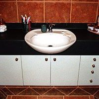 Custom furniture designed for the bathroom