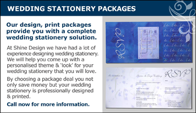 Wedding stationary packages