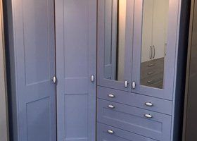 white fitted bedroom storage